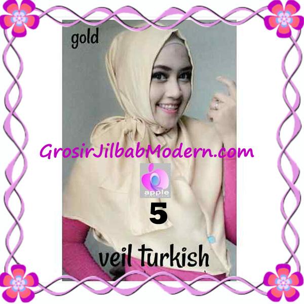 Jilbab Instant Cantik Exclusive Veil Turqish by Apple Hijab Brand No 5 Gold