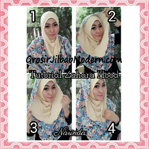 Jilbab Instant Hoodie Zahara Bunga Cantik By Narinda - Cara Pemakaian