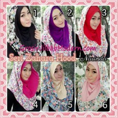 Jilbab Instant Hoodie Zahara Bunga Cantik By Narinda Series