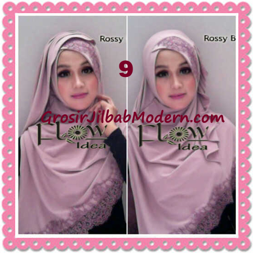 Jilbab Instant Syria Renda Silang Trendy Annisa by Flow Idea No 9 Rossy Brown