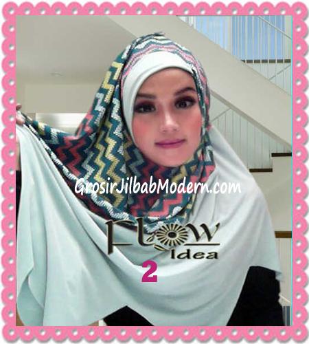 Jilbab Pashmina Instan Modern Zigzagy By Flow Idea No 2 Toska