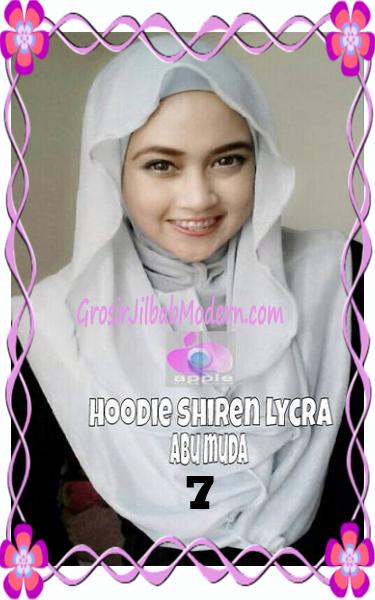 Jilbab Syria Hoodie Instant Shiren Lycra by Apple Hijab Brand No 7 Abu Muda