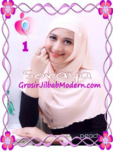 Jilbab Syria Kerut Soraya Original by Apple Hijab Brand No 1 Peach