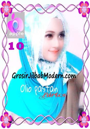 Pashmina Instant Modern Olio Original by Apple Hijab Brand No 10 Biru Tosca
