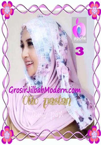 Pashmina Instant Modern Olio Original by Apple Hijab Brand No 3 Dusty Pink