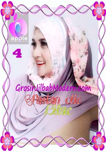 Pashmina Instant Modern Olio Original by Apple Hijab Brand No 4 Lilac
