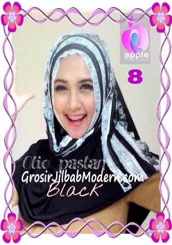 Pashmina Instant Modern Olio Original by Apple Hijab Brand No 8 Black