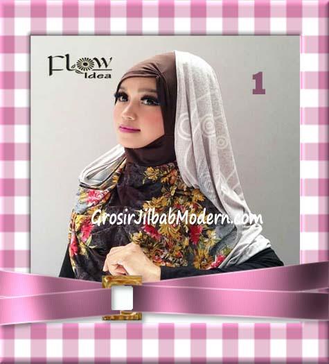 Jilbab Instant Hoodie Inner Maroko Terbaru Marhooda By Flow Idea No 1 Abu