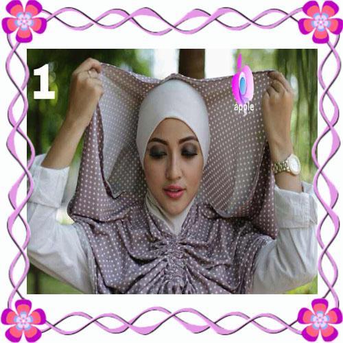 Jilbab Instant Modis Adha Hoodie Premium by Apple Hijab Brand - Cara Pemakaian