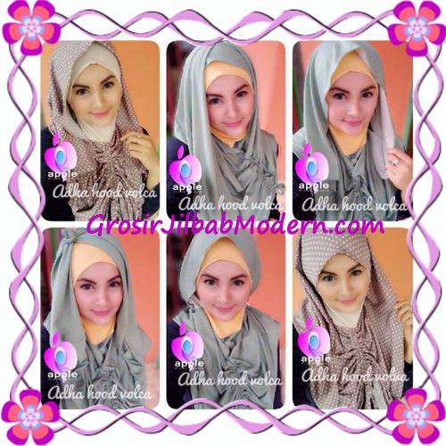 Jilbab Instant Modis Adha Hoodie Volca by Apple Hijab Brand - Macam Gaya Pemakaian