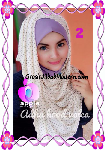 Jilbab Instant Modis Adha Hoodie Volca by Apple Hijab Brand No 2