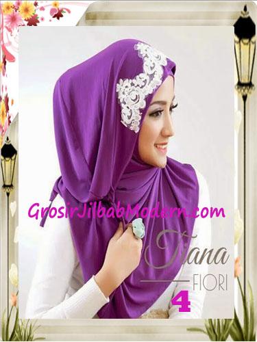 Jilbab Instant Unik Tiana Original by Fiori Design No 4 Ungu