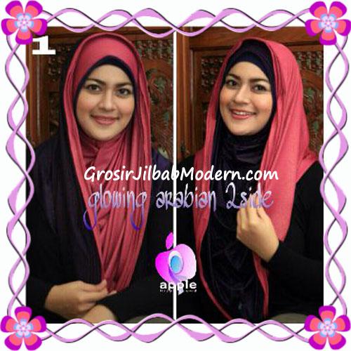 Jilbab Modern Instant Glowing Arabian 2 Side Hoodie by Apple Hijab Brand No 1