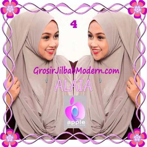 Jilbab  Pashmina Instan Hoodie Alaia Plain by Apple Hijab Brand No 4 Choco