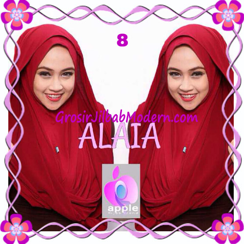 Jilbab  Pashmina Instan Hoodie Alaia Plain by Apple Hijab Brand No 8 Marun
