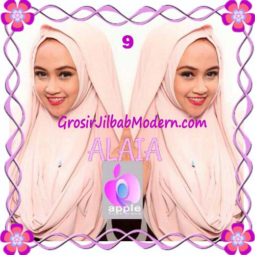 Jilbab  Pashmina Instan Hoodie Alaia Plain by Apple Hijab Brand No 9 Peach