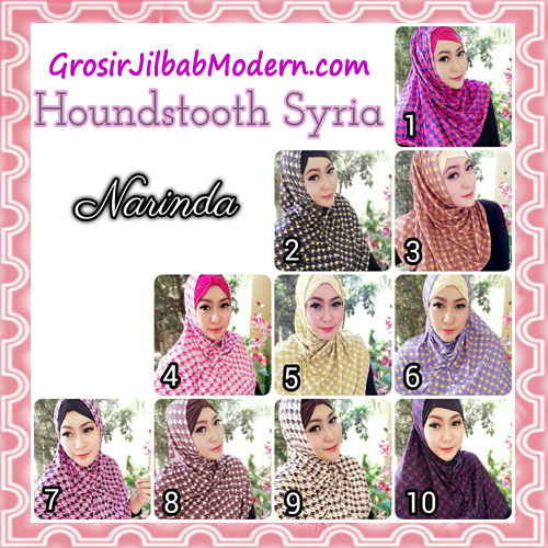 Jilbab Syria Instan 4 Gaya Terbaru Houndstooth By Narinda Series
