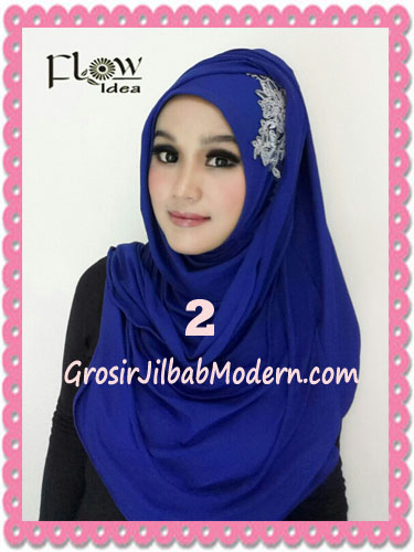 Jilbab Syria Instant Modern Trendy Dealova By Flow Idea No 2 Biru