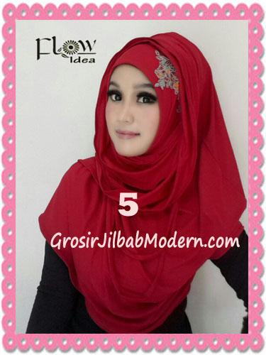Jilbab Syria Instant Modern Trendy Dealova By Flow Idea No 5 Merah