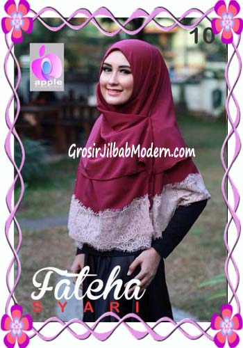 Khimar Cerutti Modis Cantik Fateha  by Apple Hijab Brand No 10 Marun