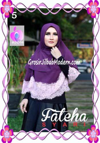 Khimar Cerutti Modis Cantik Fateha  by Apple Hijab Brand No 5 Ungu Tua