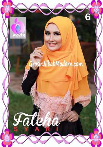Khimar Cerutti Modis Cantik Fateha  by Apple Hijab Brand No 6 Kuning Telur