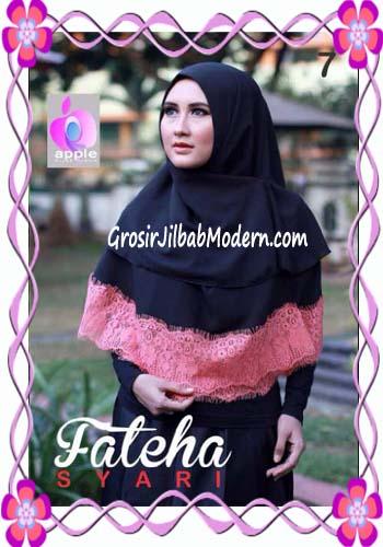 Khimar Cerutti Modis Cantik Fateha  by Apple Hijab Brand No 7 Hitam