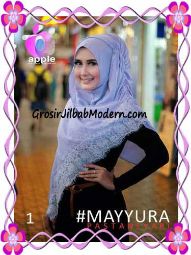 Pashmina Instan Modern Stylish Mayyura By Apple Hijab Brand No 1 Ungu Dusty