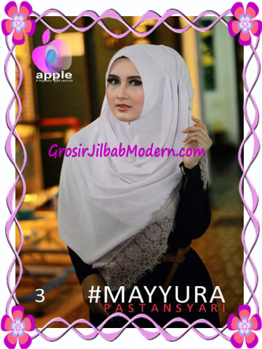 Pashmina Instan Modern Stylish Mayyura By Apple Hijab Brand No 3 Soft Lavender
