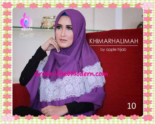 Hijab Syar'i Khimar Halimah Cantik Original By Apple Hijab Brand No 10 Purple