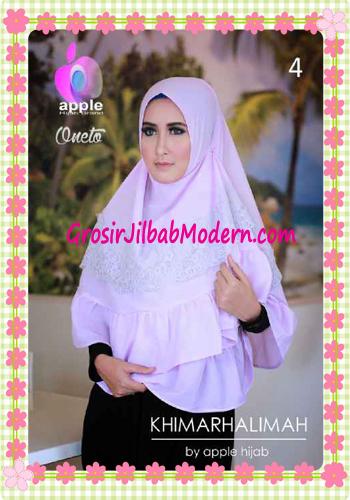 Hijab Syar'i Khimar Halimah Cantik Original By Apple Hijab Brand No 4 Soft Lavender