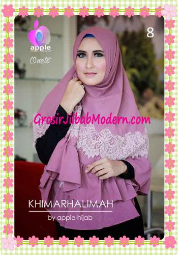 Hijab Syar'i Khimar Halimah Cantik Original By Apple Hijab Brand No 8 Glossy