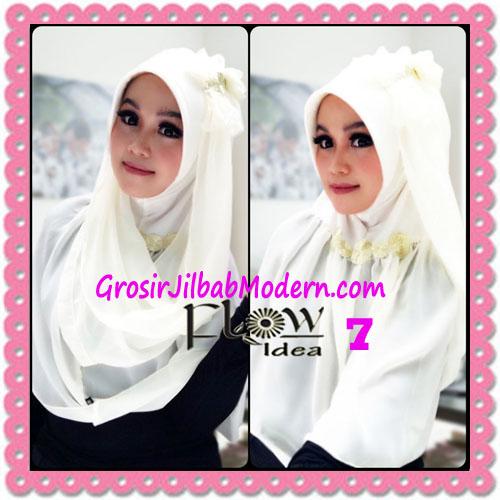 Jilbab Instant Cantik Terbaru Syria Pet Laiqa 2 in 1 Original By Flow Idea No 7 Broken White