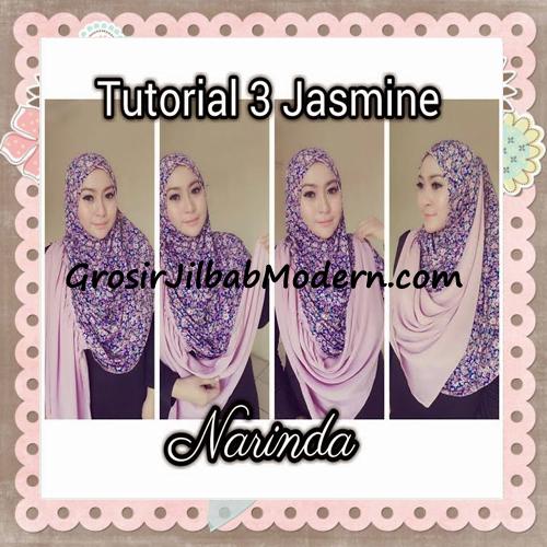 Jilbab Instant Jasmine Pashtan Hoodie Terbaru by Narinda Hijab - Cara Pemakaian Model 3