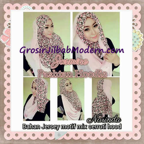 Jilbab Instant Jasmine Pashtan Hoodie Terbaru by Narinda Hijab - Detail