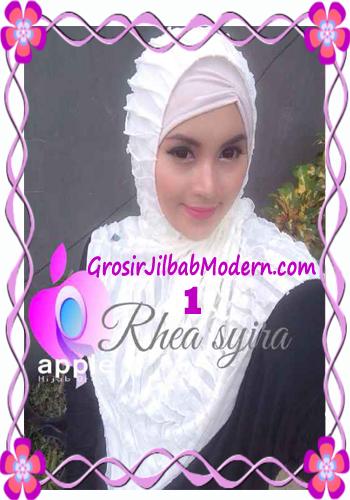 Jilbab Instant Modis Rhea Syria Ruffle Original by Apple Hijab Brand No 1 Broken White