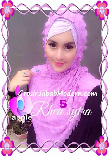 Jilbab Instant Modis Rhea Syria Ruffle Original by Apple Hijab Brand No 5 Soft Lavender