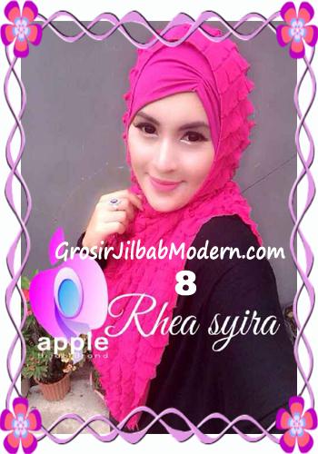 Jilbab Instant Modis Rhea Syria Ruffle Original by Apple Hijab Brand No 8 Fanta