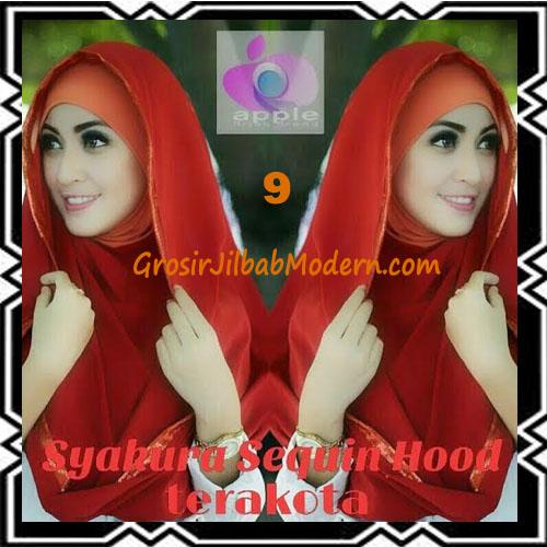 Jilbab Instant Syria Hoodie Syakura Sequin Original by Apple Hijab Brand No 9 Terakota