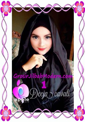 Jilbab Instant Terbaru Deeja Cavali Hoodie Exclusive Original by Apple Hijab Brand No 1 Hitam