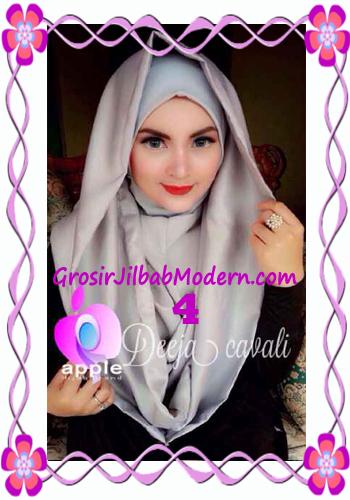 Jilbab Instant Terbaru Deeja Cavali Hoodie Exclusive Original by Apple Hijab Brand No 4 Abu-Abu
