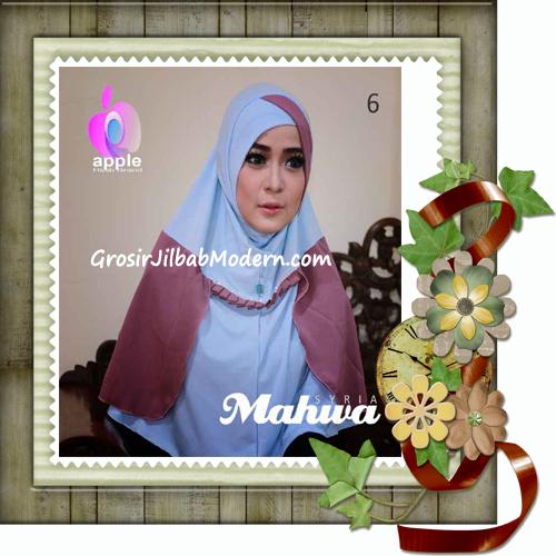 Jilbab Instant Terbaru Syria Mahwa Elegan by Apple Hijab Brand No 6