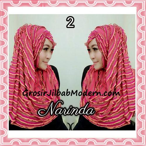 Jilbab Pashmina Instan Ruffle 3tone Modis by Narinda No 2