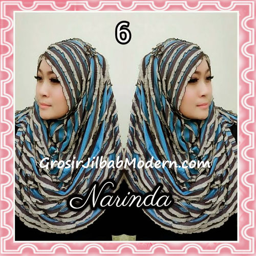 Jilbab Pashmina Instan Ruffle 3tone Modis by Narinda No 6