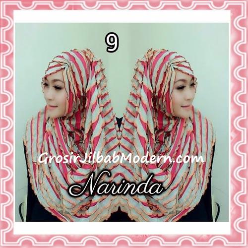 Jilbab Pashmina Instan Ruffle 3tone Modis by Narinda No 9