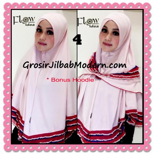 Jilbab Syria Jumbo Syar'i Hawwa Original by Flow Idea No 4 Baby Pink