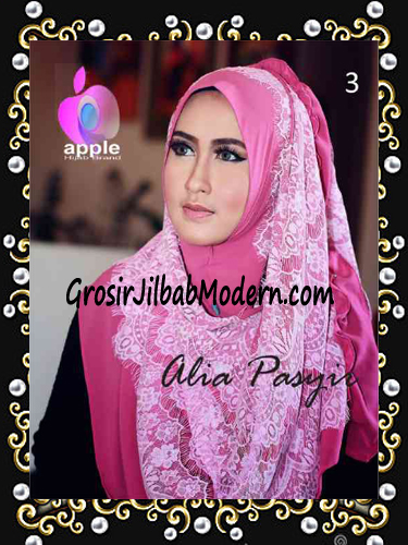 Pashmina Instan Exclusive Terbaru Alia Pasyir By Apple Hijab Brand No 3 Pink
