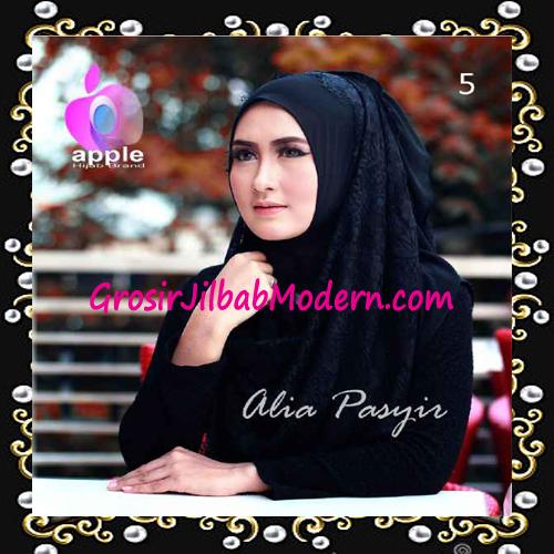 Pashmina Instan Exclusive Terbaru Alia Pasyir By Apple Hijab Brand No 5 Hitam