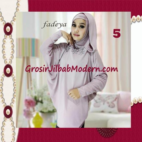 Jilbab Instant Blus Hoodie Cantik Terbaru de Kanaya Original by Fadeya No 5 Dusty Ungu