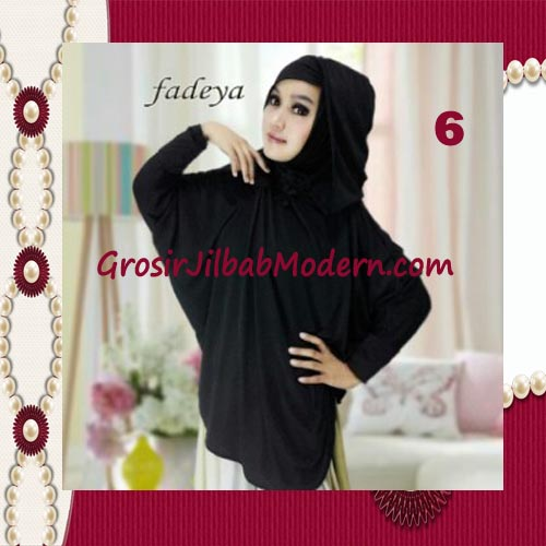 Jilbab Instant Blus Hoodie Cantik Terbaru de Kanaya Original by Fadeya No 6 Hitam